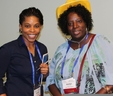 Jocelyn Hunt (right), MWA Assistant Manager of Water Operations, with fellow panelist Kendra Stancel of the Clayton County Water Authority.