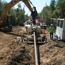 Horizontal directional drilling as much as 60 feet below the surface.