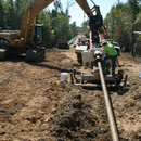 Directional drilling at work.