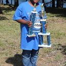 Aiden Evans, by reeling in an 8.39 pound catfish, won the 2019 MWA Kids Fishing Derby with the Biggest Catch of the Day.